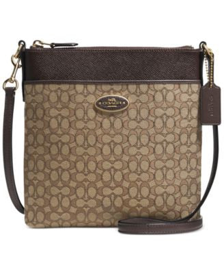 COACH North/South Swingpack in Signature Fabric