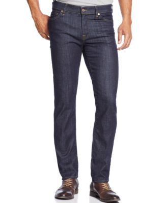 7 For all Mankind Men's Slimmy-Slim Straight Fit Dark & Clean Jeans