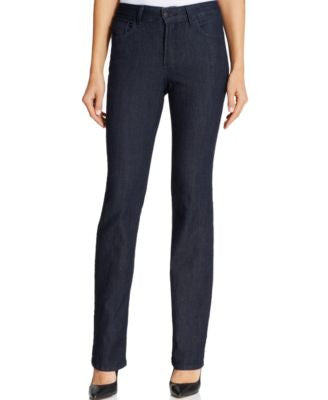 NYDJ Petite Hayley Dark Enzyme Wash Straight-Leg Jeans