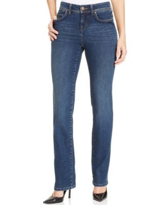 Style&co. Petite Straight-Leg Jeans, Astor Wash