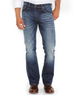 Levi's Men's 527 Slim-Fit Bootcut Jeans, Wave Allusions