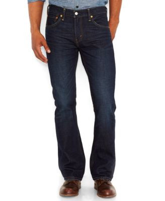 Levi's Men's 527 Slim-Fit Bootcut Jeans, Indigo Black