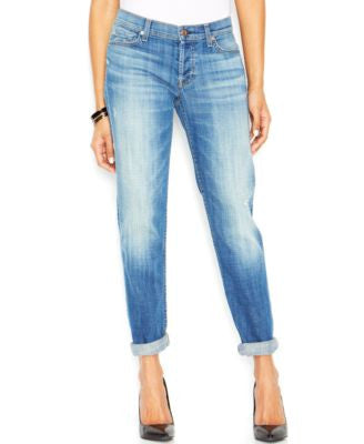7 For All Mankind Josefina Boyfriend Jeans, Bright Light Broken Twill Wash
