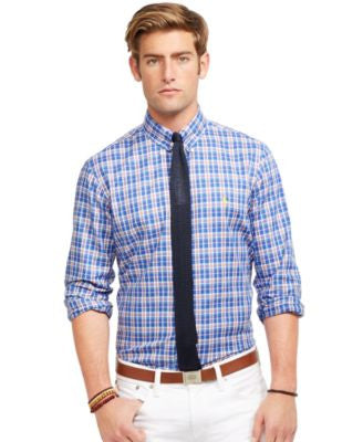 Polo Ralph Lauren Men's Long Sleeve Plaid Oxford Shirt