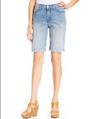 NYDJ Briella Denim Cuffed Bermuda Shorts, Manhattan Beach Wash