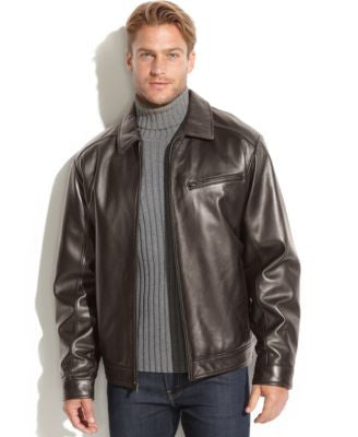 Boston Harbour Smooth Leather Bomber Jacket