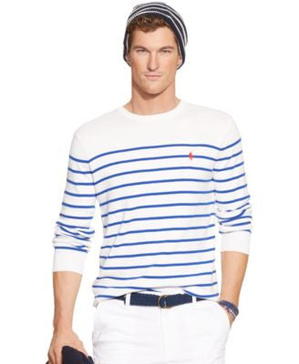 Polo Ralph Lauren Men's Striped Pima Sweater
