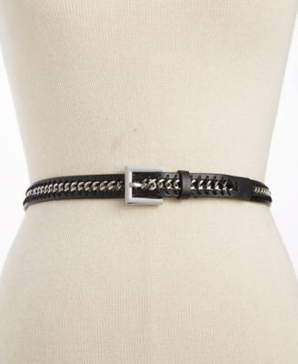 Style&co. Skinny Chain Inlay Belt