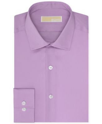 MICHAEL Michael Kors Men's Slim-Fit Non-Iron Solid Dress Shirt