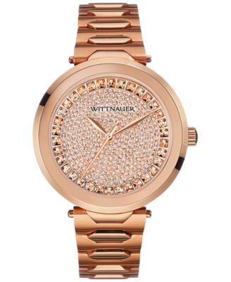 Wittnauer Women's Rose Gold-Tone Stainless Steel Bracelet Watch 38mm WN4027