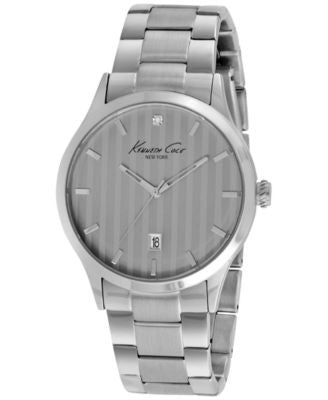 Kenneth Cole New York Men's Diamond Accent Stainless Steel Bracelet Watch 42mm KC9368