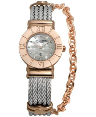 CHARRIOL Women's Swiss St-Tropez Two-Tone Steel Cable Chain Bracelet Watch 25mm 028RP.540.326