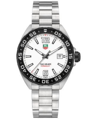 TAG Heuer Men's Swiss Formula 1 Stainless Steel Bracelet Watch 41mm WAZ1111.BA0875