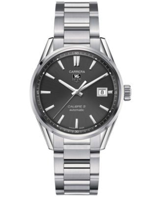 TAG Heuer Men's Swiss Automatic Carrera Calibre 5 Stainless Steel Bracelet Watch 39mm WAR211C.BA0782