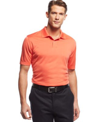 John Ashford Short-Sleeve Solid Textured Performance Polo Shirt