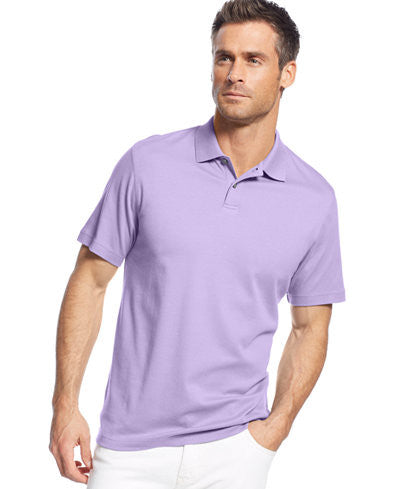 Tasso Elba Short Sleeve Signature Interlock Solid Polo Shirt