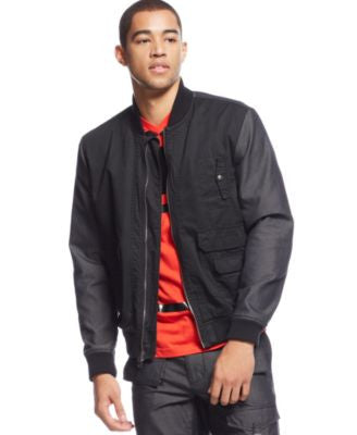 Sean John Men's Big & Tall Two-Tone Bomber Jacket