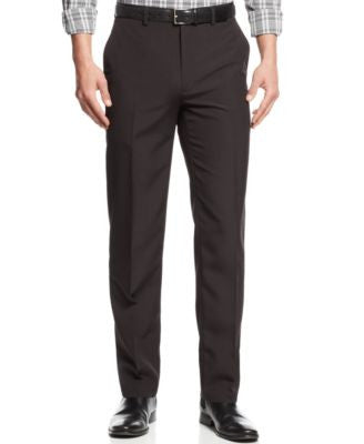 Alfani Flat-Front Pinstriped Wrinkle-Resistant Pants, Slim Fit