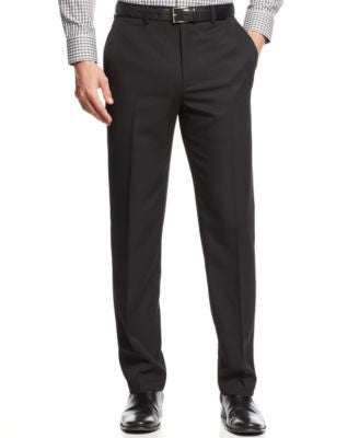 Alfani Slim Big and Tall Flat-Front Wrinkle-Resistant Herringbone Pants