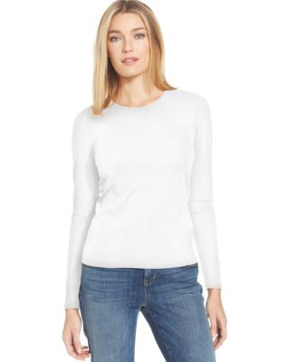 Eileen Fisher Petite Silk Long Sleeve Top