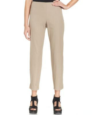 Eileen Fisher Slim-Fit Side-Zip Ankle Pants