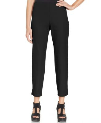 Eileen Fisher Petite Slim-Fit Side-Zip Ankle Pants