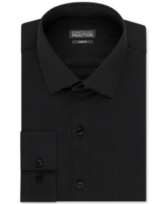 Kenneth Cole Reaction Men's Slim-Fit Dobby-Weave Solid Dress Shirt