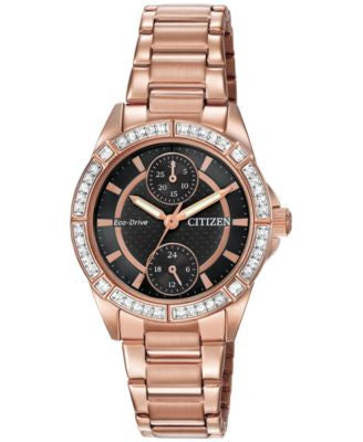 Citizen Women's Drive from Citizen Eco-Drive Rose Gold-Tone Stainless Steel Bracelet Watch 33mm FD30