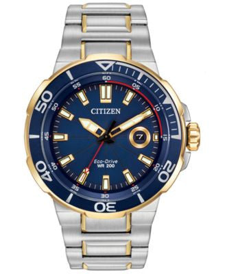 Citizen Men's Eco-Drive Endeavor Two-Tone Stainless Steel Bracelet Watch 45mm AW1424-54L