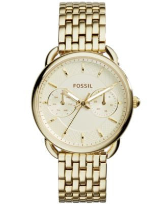 Fossil Women's Tailor Gold-Tone Stainless Steel Bracelet Watch 35mm ES3714