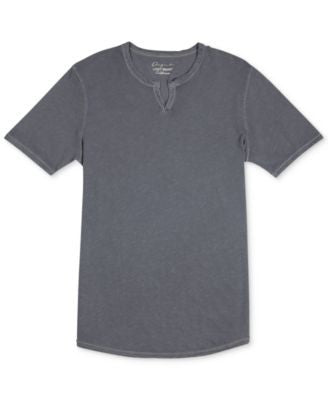 Lucky Brand Men's Split-Neck Slub T-Shirt