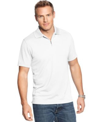 Alfani Big and Tall Ottoman Quarter-Zip Polo