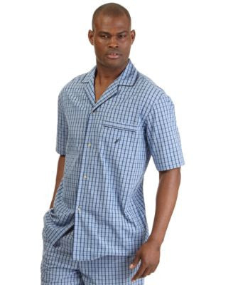 Nautica Men's Woven Plaid Pajama Shirt