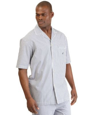 Nautica Men's Woven Striped Pajama Shirt