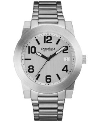 Caravelle New York by Bulova Men's Stainless Steel Bracelet Watch 44mm 43B142