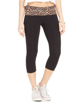 Material Girl Active Juniors' Cropped Foldover Leggings