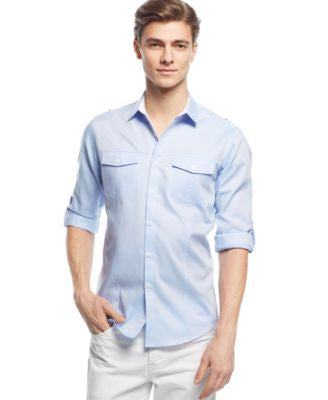 INC International Concepts Men's Liam Long-Sleeve Shirt, Only at Vogily