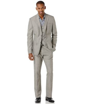 Perry Ellis Linen-Blend Slim-Fit Suit