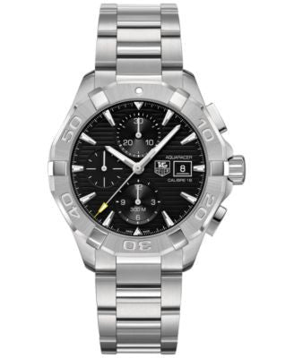 TAG Heuer Men's Swiss Automatic Chronograph Aquaracer Stainless Steel Bracelet Watch 43mm CAY2110.BA