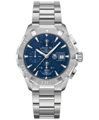 TAG Heuer Men's Swiss Automatic Chronograph Aquaracer Stainless Steel Bracelet Watch 43mm CAY2112.BA