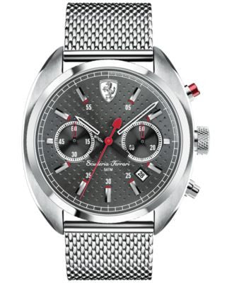 Scuderia Ferrari Men's Chronograph Formula Sportiva Stainless Steel Mesh Bracelet Watch 43mm 830214