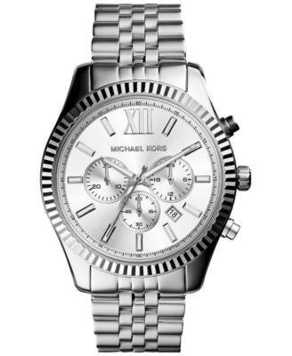 Michael Kors Men's Chronograph Lexington Stainless Steel Bracelet Watch 45mm MK8405