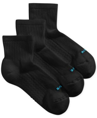 Hue Women's Air Cushion Mini Crew 3 Pack Socks