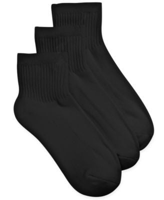 Charter Club Women's Solid 3 Pack Ankle Socks