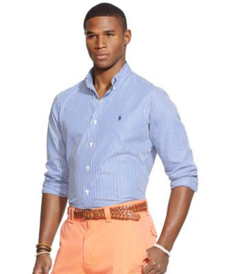 Polo Ralph Lauren Men's Striped Poplin Shirt