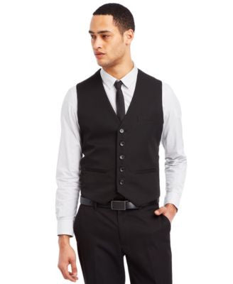 Kenneth Cole Reaction Black Vest