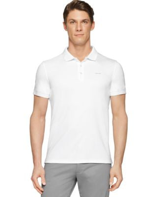 Calvin Klein Men's Interlock Liquid Cotton Polo