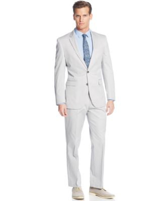 Kenneth Cole New York Light Grey Cotton Suit Separates