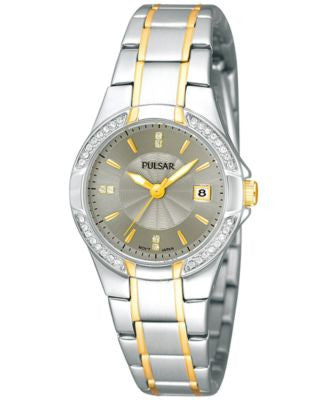 Pulsar Women's Two-Tone Stainless Steel Bracelet Watch 27mm PH7294