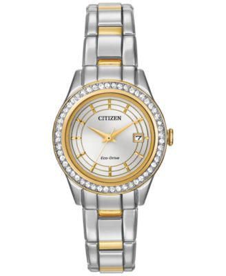 Citizen Women's Eco-Drive Two-Tone Stainless Steel Bracelet Watch 28mm FE1124-58A